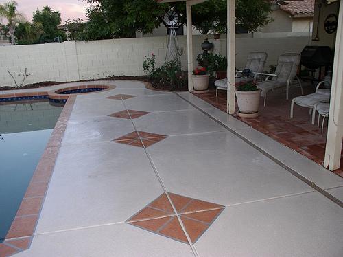 Stone Border Deck Designs by Advanced Deck Designs
